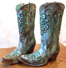 corral ladies tan u0026 turquoise hand painted cord stitch cowgirl