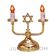 electric shabbos candles in gold judaica com