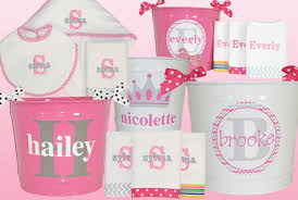 baby gift sets personalized baby gifts for girl in pink and grey