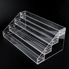4 tier 40 bottles clear acrylic display stand large rack organizer