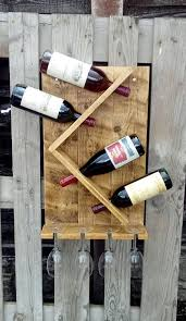 wine rack and glass holder hand made rustic pallet wood barcitos