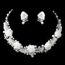 pearl rhinestone necklace images Pearl rhinestone swarovski flower jewelry sets elegant bridal jpg