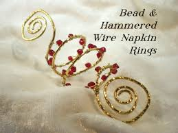 napkin ring ideas bead wire napkin rings tutorial