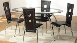 Circular Glass Dining Table And Chairs Remarkable Modern Round Glass Dining Table Ksp Kona Round Glass