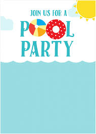 pool invite which various color combination thewhipper