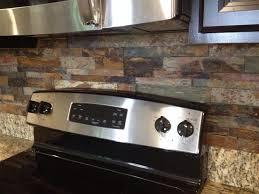 slate kitchen backsplash brandon florida stacked slate kitchen backsplash ceramictec updates