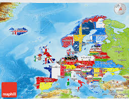 europe phisical map flag 3d map of europe physical outside