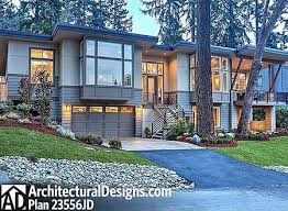 front sloping lot house plans plan 23556jd modern for front sloping lot house modern