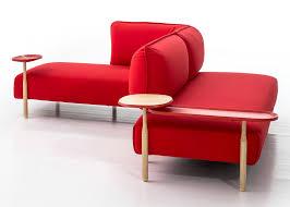 urquiola upholsters modular sofa for moroso in jersey fabric