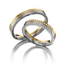 Matching Wedding Rings by Polish Flat Ladies And Mens Matching Wedding Rings 0 14 Ctw Round