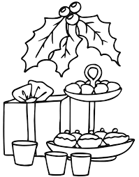 christmas cookies coloring goodies gift u0026 holly