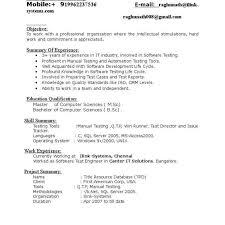 Software Tester Resume Web Testing Resume Lukex Co
