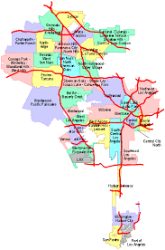los angeles suburbs map los angeles map cities indiana map