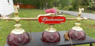 budweiser pool table light with horses vintage budweiser pool table hanging light game room bar mancave