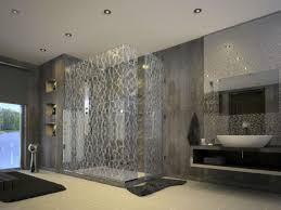 breathtaking bathroom tiles with mosaic glass back splash also