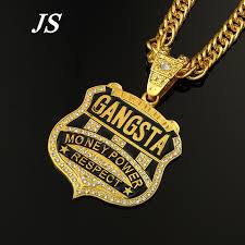 cheap gold necklace images Buy js cool gold rapper chain male gold necklace jpg