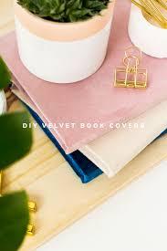 diy velvet covered books fall for diy