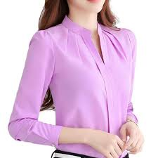 lavender blouses chiffon office blouse fashion ol work shirts