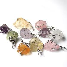 purple crystal stone necklace images Buy wire wrapped natural drusy crystal stone pendant raw purple jpg