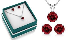 red necklace earring set images Up to 81 off on necklace and earring set groupon goods jpg