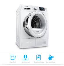 Clothes Dryer Filter 8kg Front Load Dryer With Heat Pump Technology Dv80f5e5hgw
