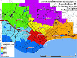 Santa Barbara California Map Iaff Local 525 Maps