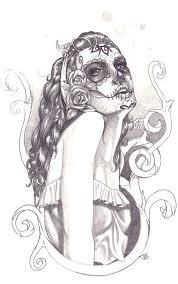 sugar skull 2 drawing jmg creations