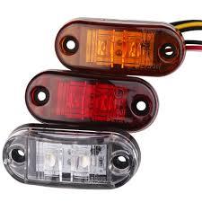 led truck marker lights 2pc 12v 24v led trailer truck clearance side marker light