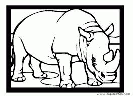 coloriage gratuit imprimer rhinoceros