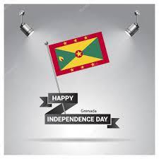 Grenda Flag Grenada Independence Day Poster U2014 Stock Vector Ibrandify 93722132