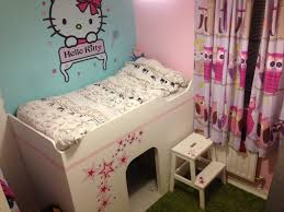 Kids Room  Hello Kitty Kids Bedding Sets With Beige Varnished - Hello kitty bunk beds