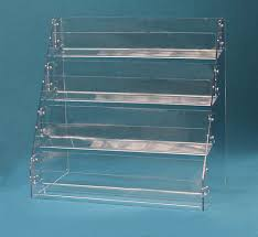 displays by rioux countertop angled rack card display