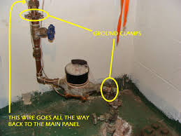 Basement Drain Backflow Preventer by A Missing Jumper Wire At The Water Meter