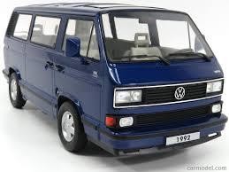 blue volkswagen kk scale kkdc180141 scale 1 18 volkswagen t3 multivan minibus