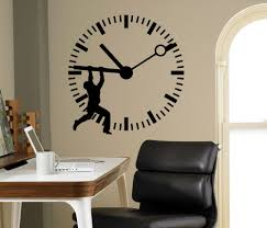 compare prices on office wall murals online shopping buy low dsu man silhouette stop the time art wall sticker clock patterned home office business decorative vinyl