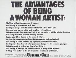 Text Artwork by The Advantages Of Being A Woman Artist U0027 Guerrilla Girls 1988 Tate