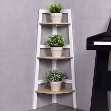 Corner Ladder Bookcase Collection Of Solutions Costway 3 Tier Wood Corner Bookcase Shelf