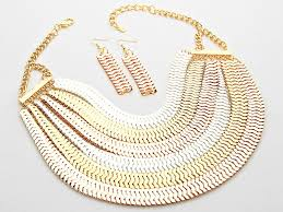 rose gold snake necklace images Multi layered snake chain bib necklace jewel addicts jpg