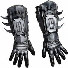 batman arkham city halloween costumes arkham batman deluxe gloves costume amazon co uk toys u0026 games