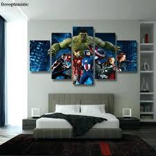 Iron Man Night Light Wall Arts Avengers Bedroom Wall Mural Marvel Wall Art 3d