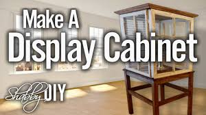 Wood To Make Cabinets How To Make A Display Cabinet From Wooden Windows Youtube