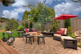 Paver Patio Designs With Fire Pit Patio Ideas With Fire Pit Patio Traditional With Grass Lawn