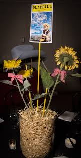 New York Themed Centerpieces by Diy Broadway Theme Stage Lots Of Cardboard Paint And Black