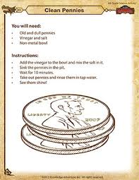 clean pennies u2013 science activity for 6th grade u2013 of dragons