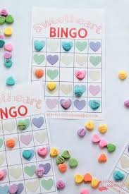 Halloween Bingo Cards Printable For Kids Conversation Hearts Valentine Bingo