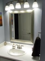 Bathrooms Design Lighted Mirror 48 Inch Vanity Light Fixture Home Cheap Bathroom Fixtures