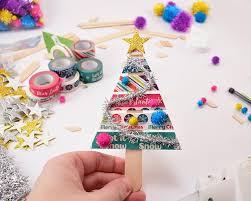 washi wood tree ornaments a bigger