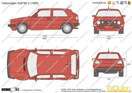 volkswagen golf 1985 the blueprints com vector drawing volkswagen golf ii