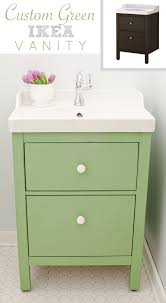green ikea custom bathroom vanity blogger home projects we love