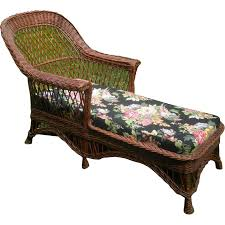 Wicker Chaise Lounge Bar Harbor Wicker Chaise Lounge Circa 1920 U0027s Sold On Ruby Lane